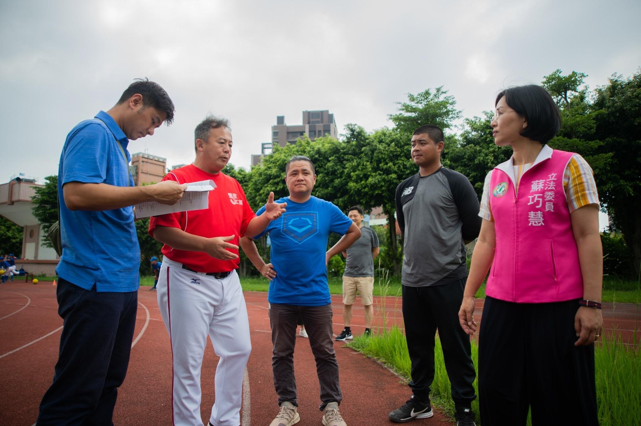 尖山國中會勘棒球隊練習場地。